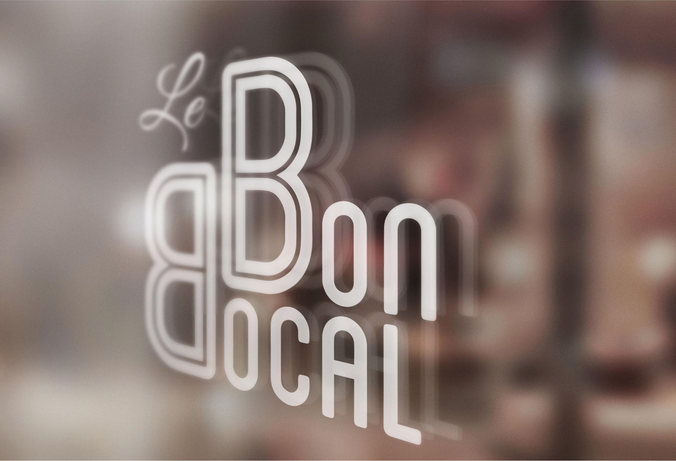 Flocage vitrine - Le Bon Bocal